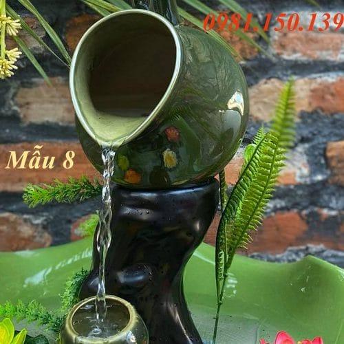 Thác Nước Mini Phong Thủy Mẫu 8 làm bằng gốm sứ