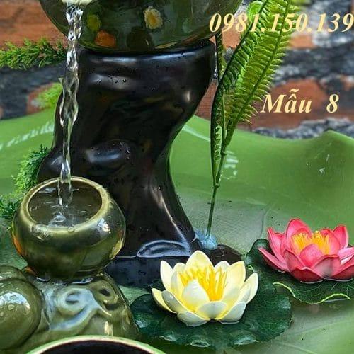 Thác Nước Mini Phong Thủy Mẫu 8 gốm sứ bát tràng
